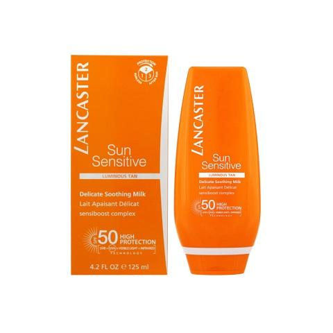 Lancaster Sun Sensitive Luminous Tan Delicate Soothing Body Milk 125ml - SPF50