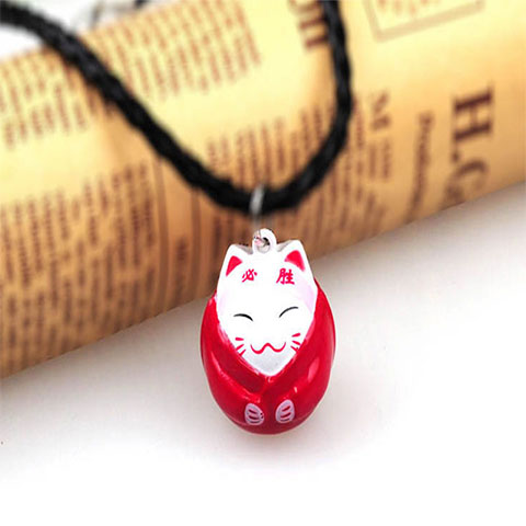 Large Cartoon Bell Pet Necklace - Red