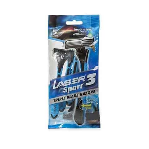 Laser 3 Sport Triple Blade Razors - 5 Razors