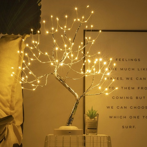 LED Copper Wire Tree Lights - Warm White (20258)