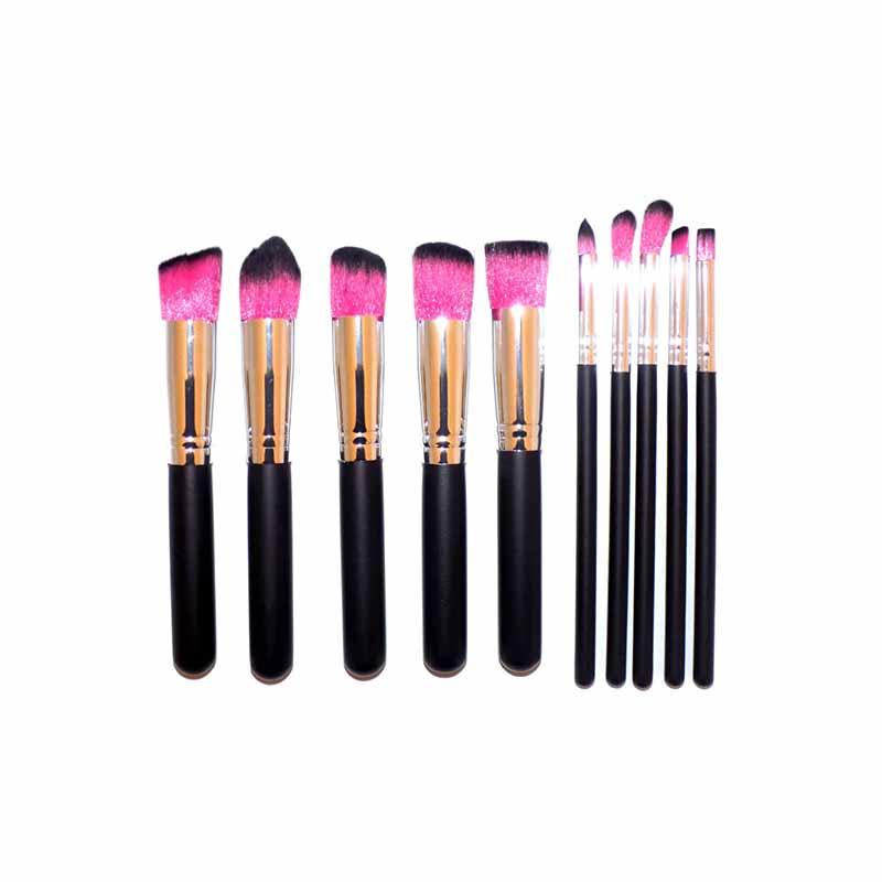 Lilyz 10 Pcs Makeup Brush Set - Pink (4012)