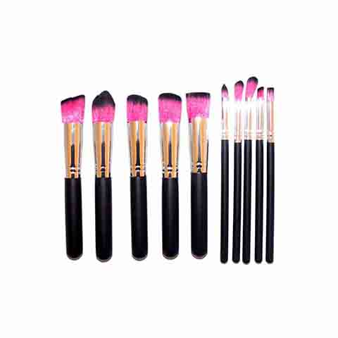 Lilyz 10 Pcs Makeup Brush Set - Pink (4012)