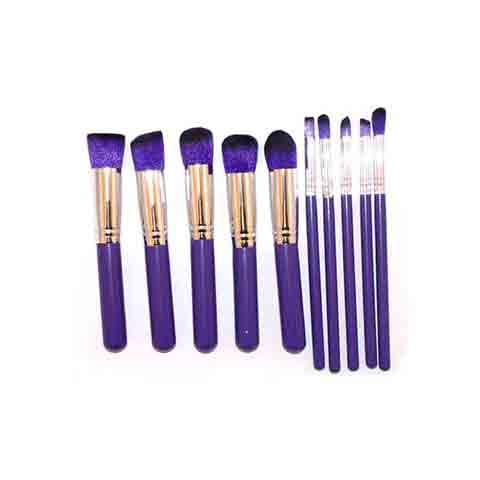 Lilyz 10 Pcs Makeup Brush Set - purple (4043)