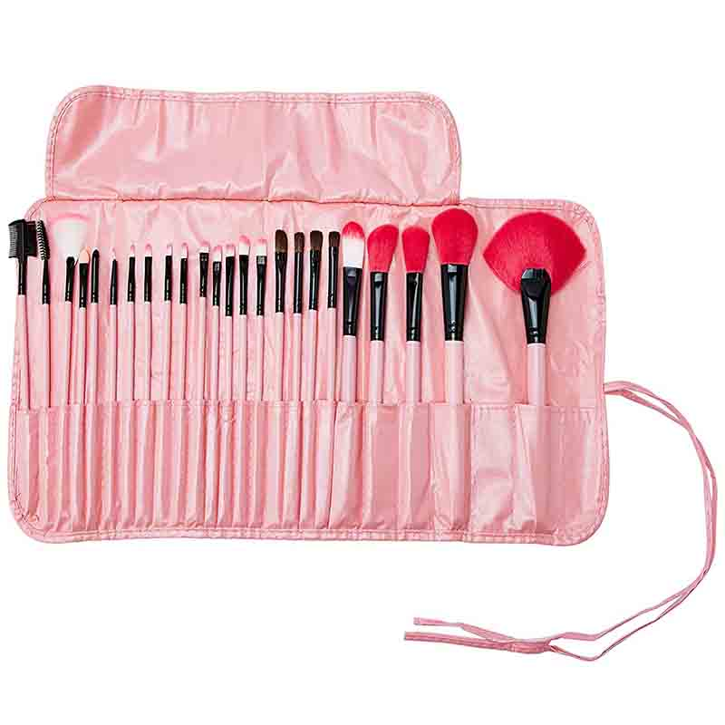 Lilyz 24 Pcs Makeup Brush Set with Case - Pink (3039)