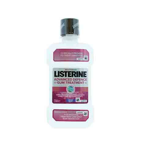 Listerine Advanced Defence Gum Treatment Crisp Mint Mouthwash 250ml
