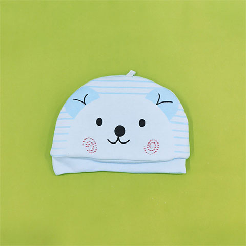 Little Bear Quilted Baby Tire Cap - Blue