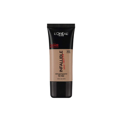 L'Oreal Paris Infallible Pro-Matte Foundation 30ml - 102 Shell Beige