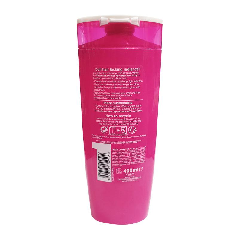 L'oreal Elvive Nutri - Gloss Luminiser High Shine Shampoo For Dull Hair 400ml