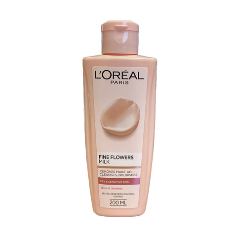 L'Oreal Fine Flowers Cleansing Milk For Dry & Sensitive Skin 200ml