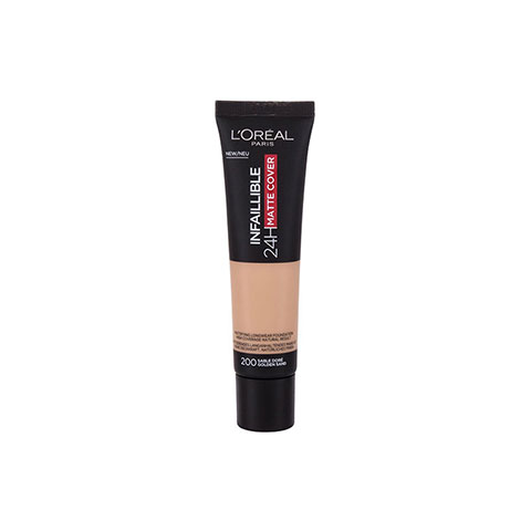 L'Oreal Infallible 24Hr Matte Cover Foundation 30ml - 200 Golden Sand