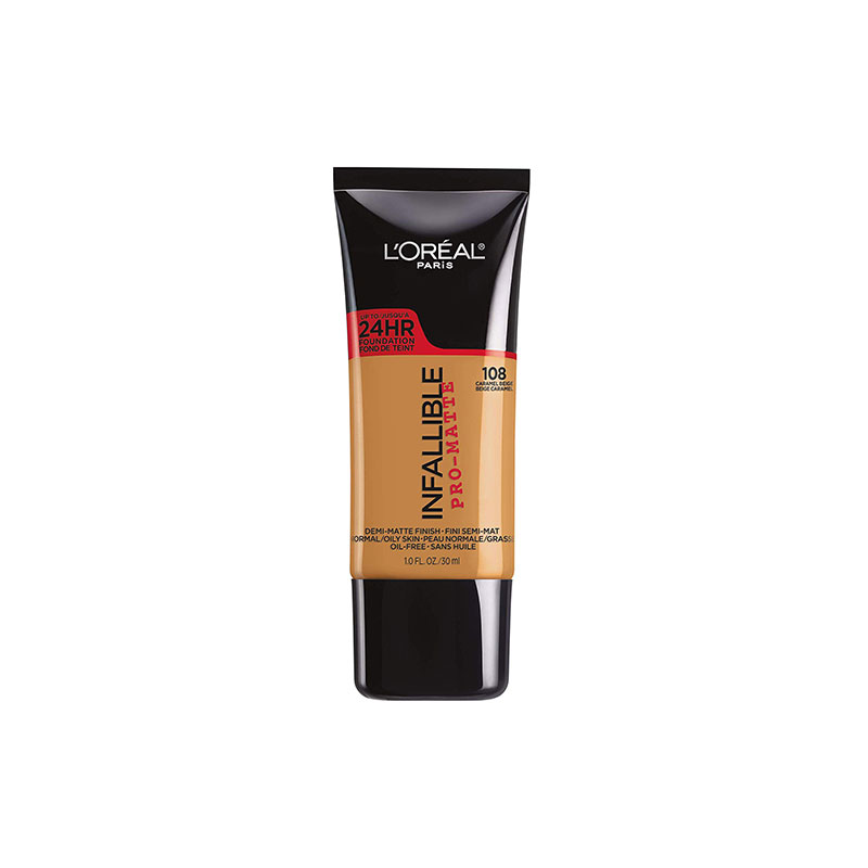 L'Oreal Infallible Pro Matte Foundation 30ml - 108 Caramel Beige