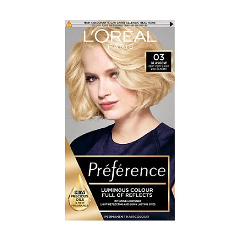 L'Oreal Infinia Preference New Colour Extender Permanent Hair Colour  - 03 Lightest Ash Blonde