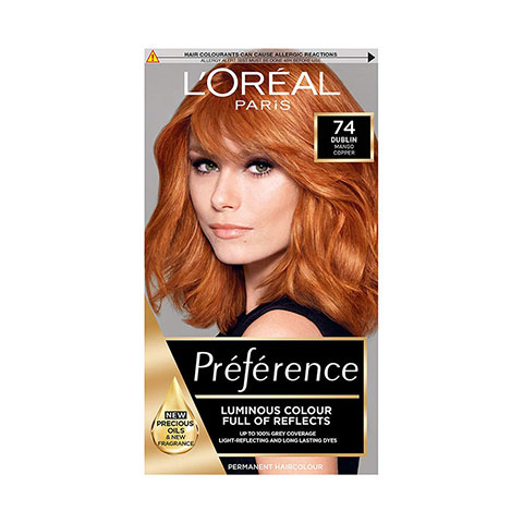 L'oreal Infinia Preference New Feria With Colour Extender Permanent Hair Colour - 74 Mango (Intense Copper)