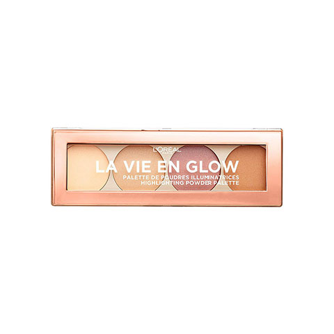 L'Oreal La Vie En Glow Highlighting Powder Palette - 01 Warm Glow