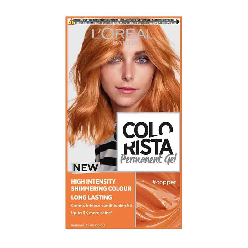 L'oreal New Colorista Permanent Gel Hair Colour - Copper