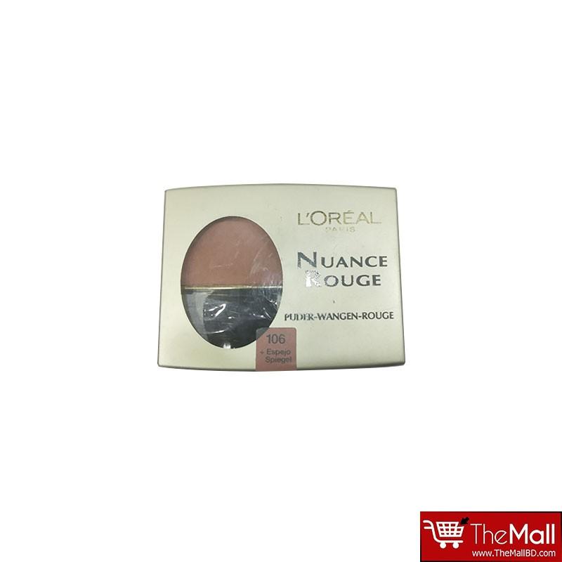 L'oreal Nuance Rouge Powder  Blush - 106 Amber