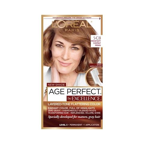 L'oreal Paris Age Perfect By Excellence Permanent Hair Colour - 5CB Medium Soft Chestnut Brown
