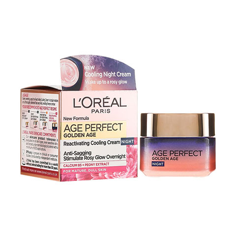 L'Oreal Paris Age Perfect Golden Age Reactivating Cooling Night Cream 50ml - Age 60+