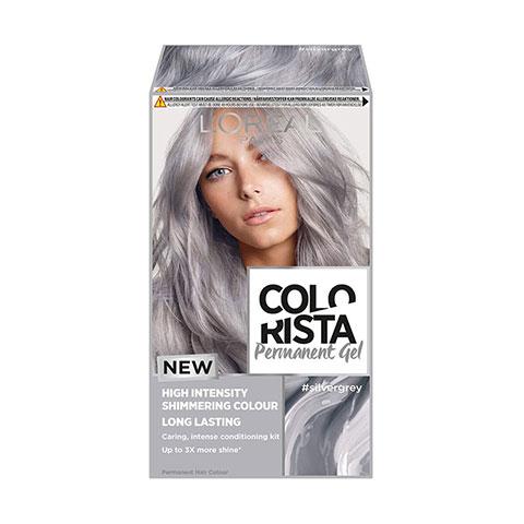 L'oreal Paris Colorista Permanent Gel Hair Dye - Silver Grey
