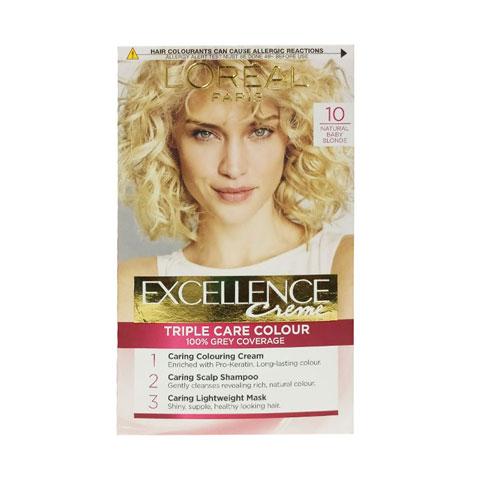 L'oreal Paris Excellence Creme Hair Colour - 10 Natural Baby Blonde