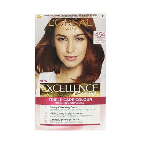 L'Oreal Paris Excellence Creme Permanent Hair Colour - 4.54 Natural Dark Copper Mahogany