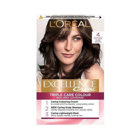 L'oreal Paris Excellence Creme Triple Care Hair Colour - 4 Natural Dark Brown