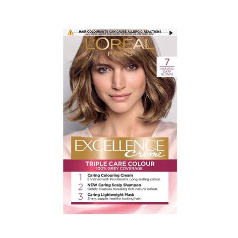L'oreal Paris Excellence Creme Triple Care Hair Colour - 7 Natural Dark Blonde