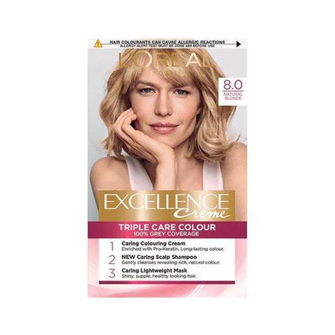 L'oreal Paris Excellence Creme Triple Care Hair Colour - 8 Natural Blonde
