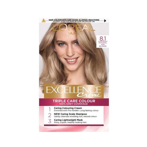 L'oreal Paris Excellence Creme Triple Care Hair Colour - 8.1 Natural Ash Blonde
