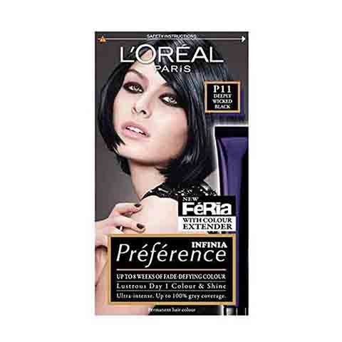 L'Oréal Paris Feria Infinia Preference Hair Colour - P11 Deeply Wicked Black