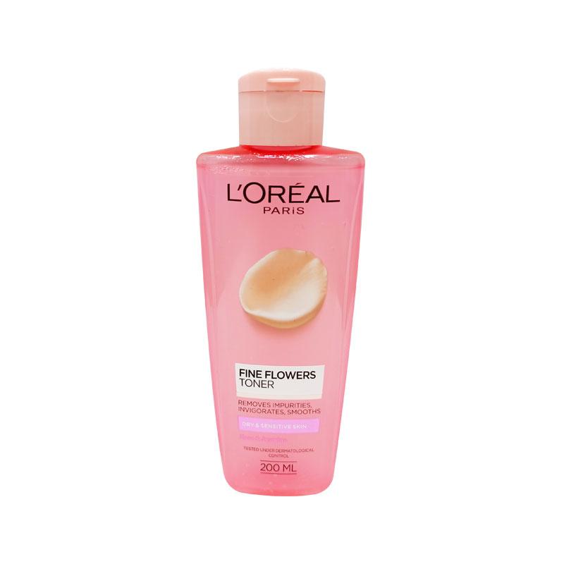 L'Oreal Paris Fine Flowers Toner Dry & Sensitive Skin 200ml