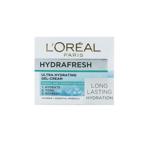 L'oreal Paris Hydrafresh Ultra-Hydrating Gel Cream For Normal To Combination Skin 50ml