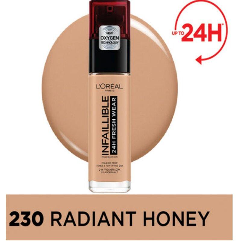 L'Oreal Paris Infaillible 24H Fresh Wear Foundation - 230 Radiant Honey