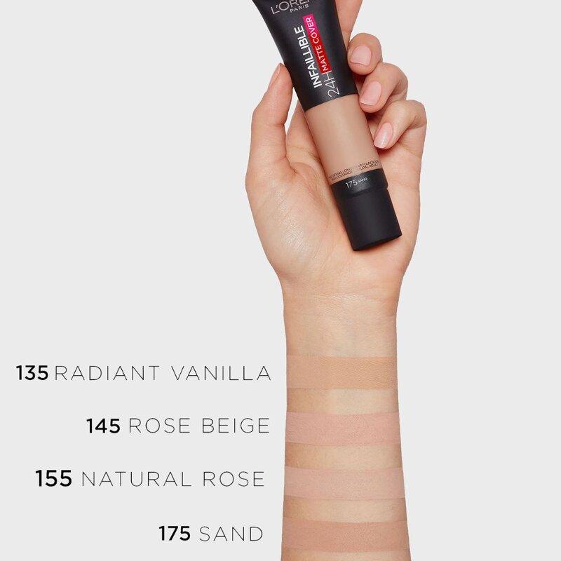 L'oreal Paris Infaillible 24H Matte Cover Foundation 30ml - 155 Natural Rose