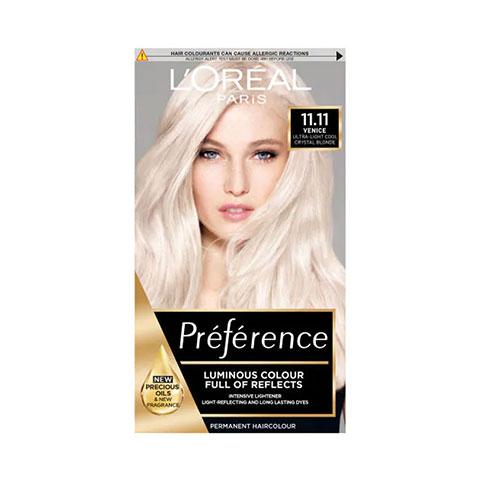 L'Oreal Paris Preference Luminous Permanent Hair Colour - 11.11 Ultra Light Cool Crystal Blond