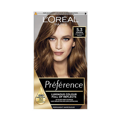 L'Oreal Paris Preference Luminous Permanent Hair Colour - 5.3 Light Golden Brown