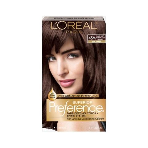 L'oreal Paris Superior Preference Permanent Hair Color - 4SM Dark Soft Mahogany Brown Warmer