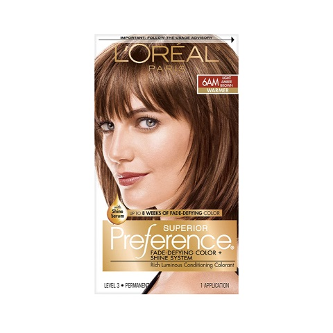L'oreal Paris Superior Preference Permanent Hair Color - 6AM Light Amber Brown Warmer
