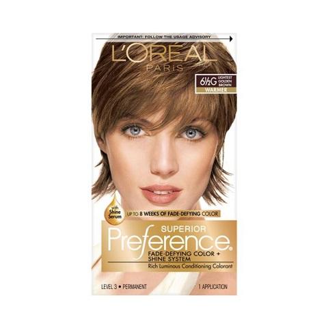 L'oreal Paris Superior Preference Permanent Hair Color - 6½G  Lightest Golden Brown Warmer
