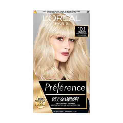 L'Oreal Preference Hair Colour - 10.1 Helsinki Very Light Ash Blonde