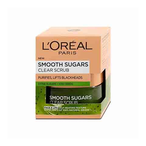 L'oreal Smooth Sugars Clear Scrub 50ml