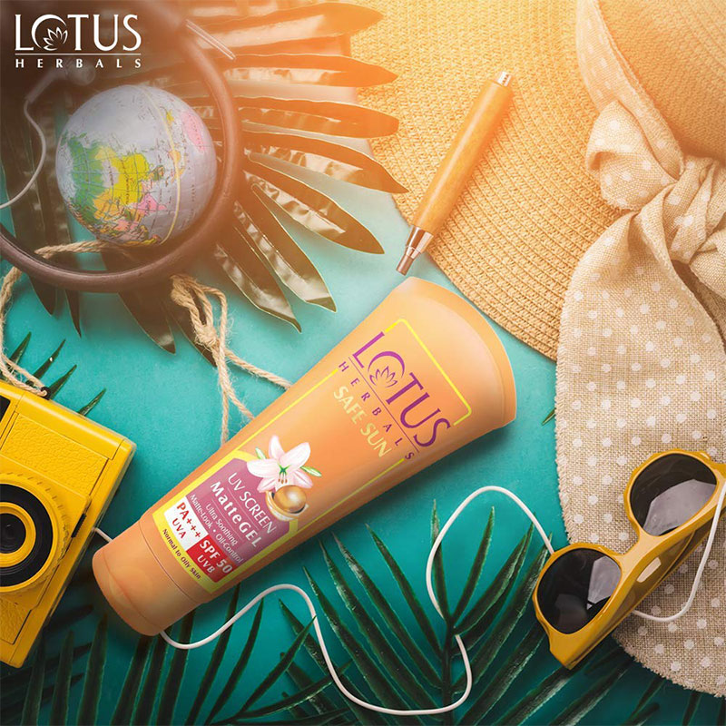 Lotus Herbals Safe Sun UV Screen Matte Gel 100g - SPF50