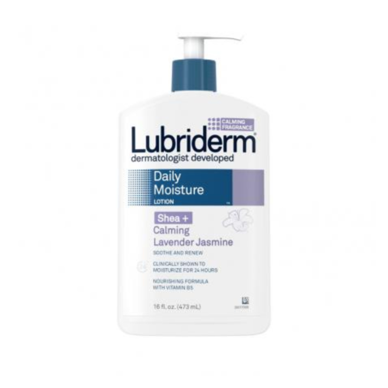 Lubriderm Daily Moisture Lotion With Shea + Calming Lavender Jasmine 473ml