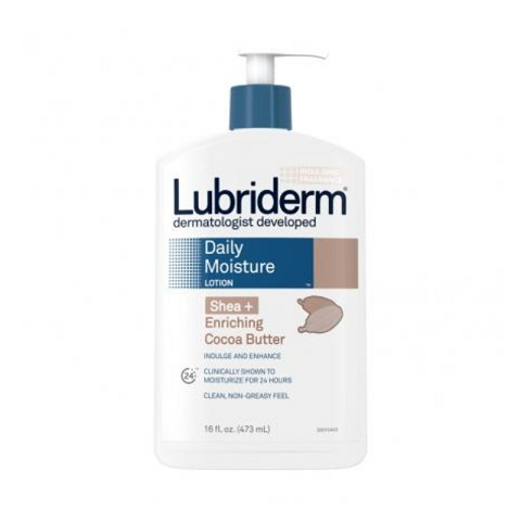 Lubriderm Daily Moisture Lotion With Shea + Enriching Cocoa Butter 473ml