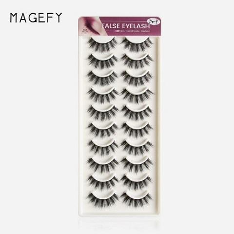 Magefy Thick Natural Curling False Eyelashes 10 Pairs - Y10-9