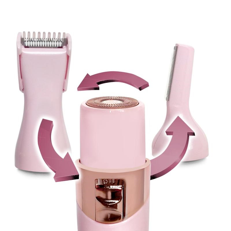 Magnitone Fuzz Off 3-In-1 Rechargeable Precision Hair Trimmer For Women