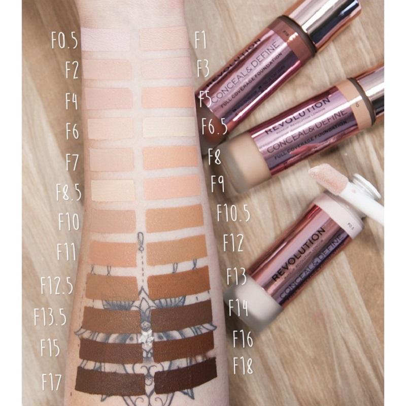Makeup Revolution Conceal & Define Foundation 23ml - F1