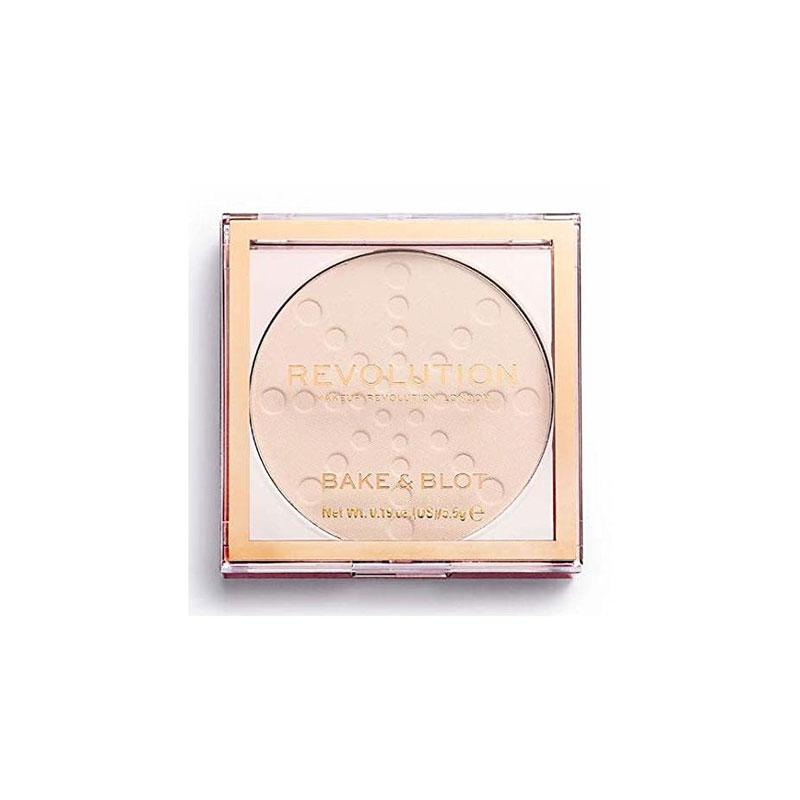 Makeup Revolution London Bake & Blot Pressed Powder - Translucent