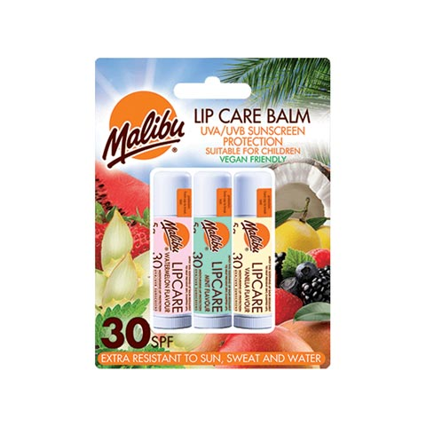 Malibu Lip Care Balm SPF 30 Pack of 3x 5g