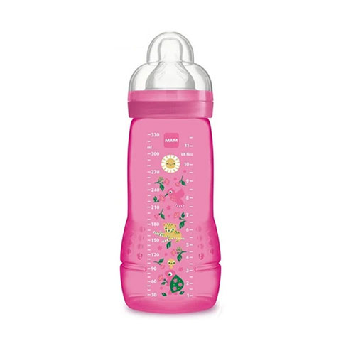 MAM Easy Active Baby Bottle 4m+ 330ml - Pink